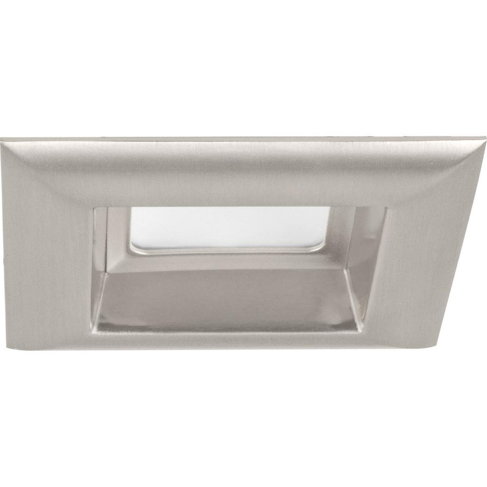 Retrofit Square Collection 4 in. Brushed Nickel Integrated LED Recessed Trim