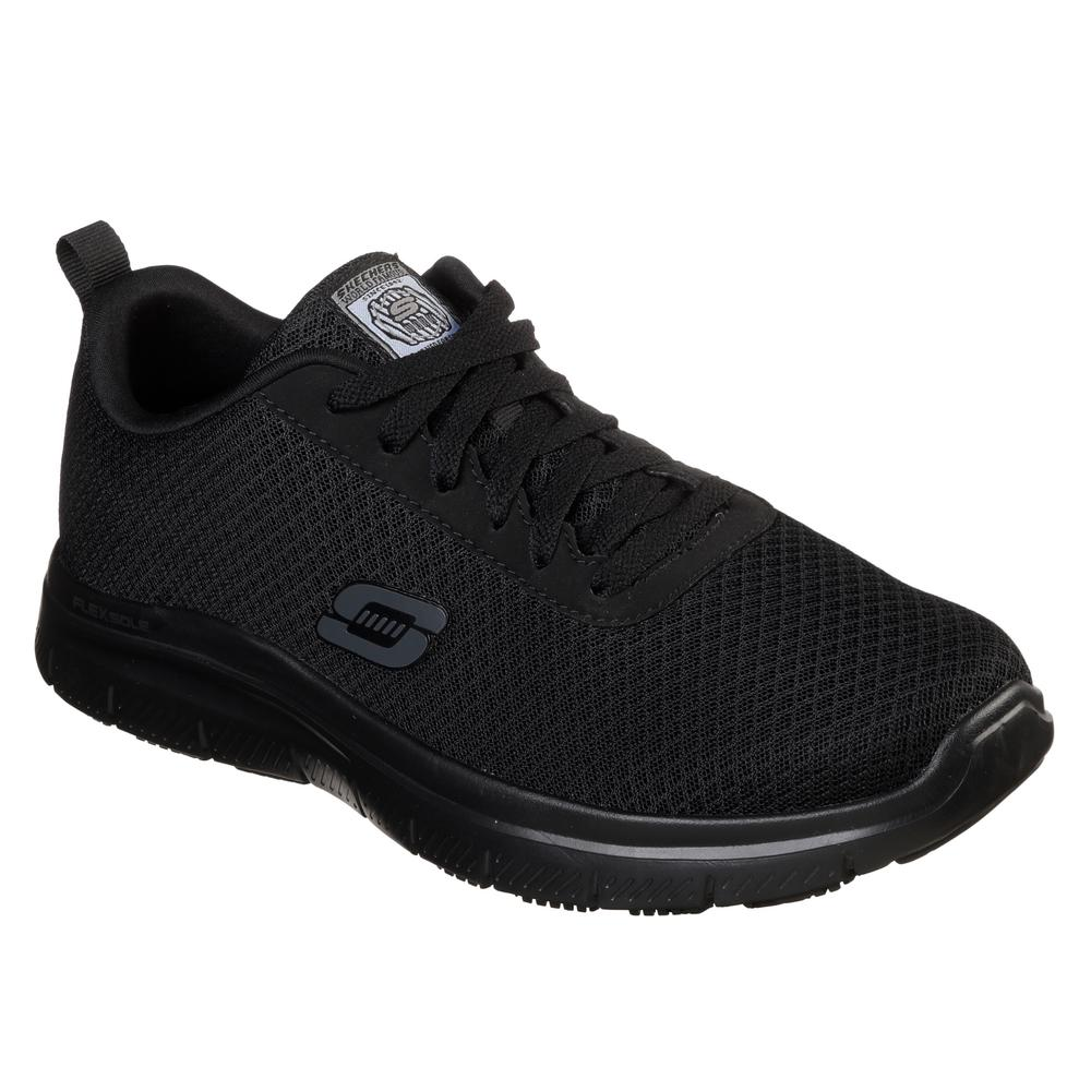 1ac18da14c411 Skechers Flex Advantage - Bendon Men Size 9.5 Black Fabric Work Shoe