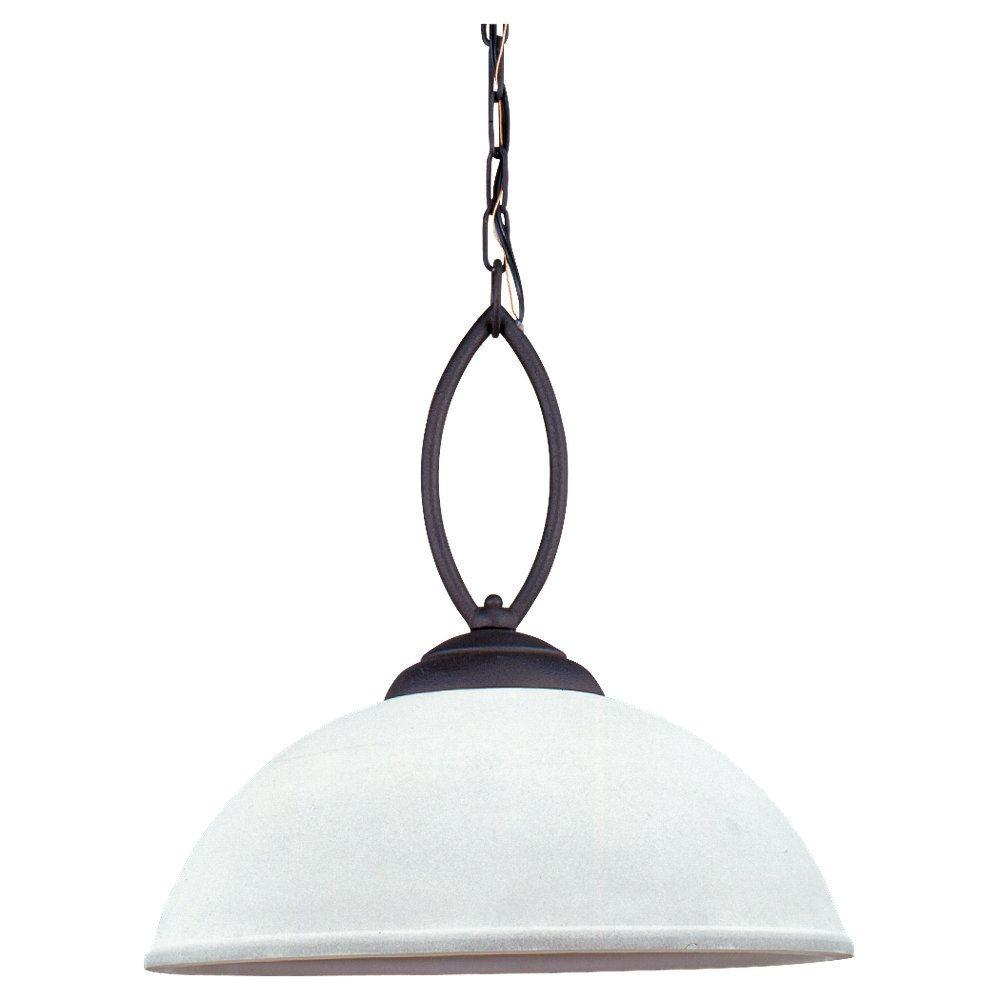 Sea Gull Lighting Pemberton 1-Light Peppercorn Pendant