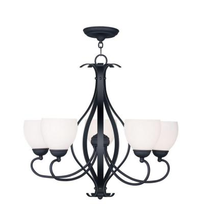 Providence 5-Light Black Incandescent Ceiling Chandelier