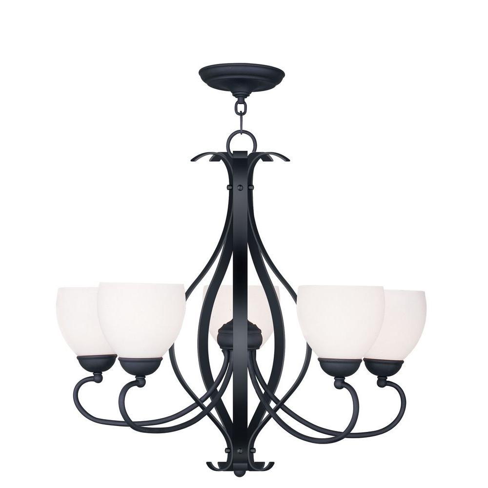 Providence 5-Light Black Incandescent Ceiling Chandelier
