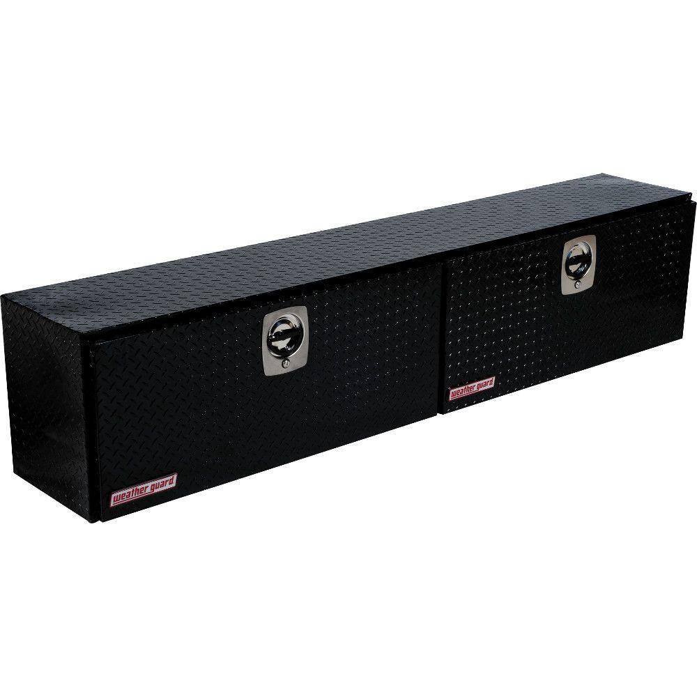 Weather Guard 90.25 Gloss Black Aluminum Full Size Top Mount Truck Tool Box