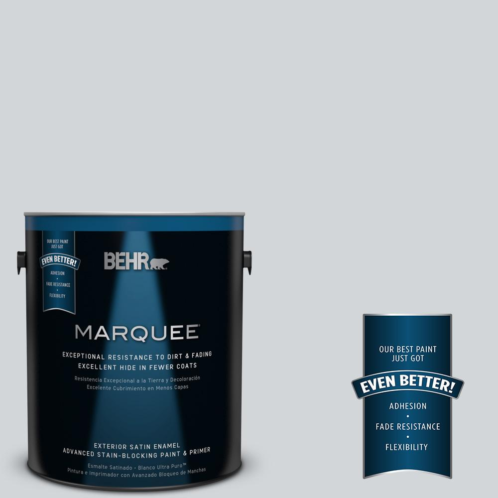 BEHR MARQUEE 1-gal. #750E-2 Twilight Gray Satin Enamel Exterior Paint