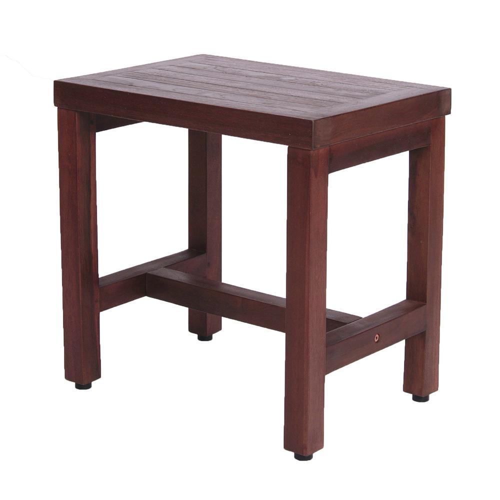 DecoTeak Classic 18 in. Teak Shower Bench-DT173 - The Home Depot