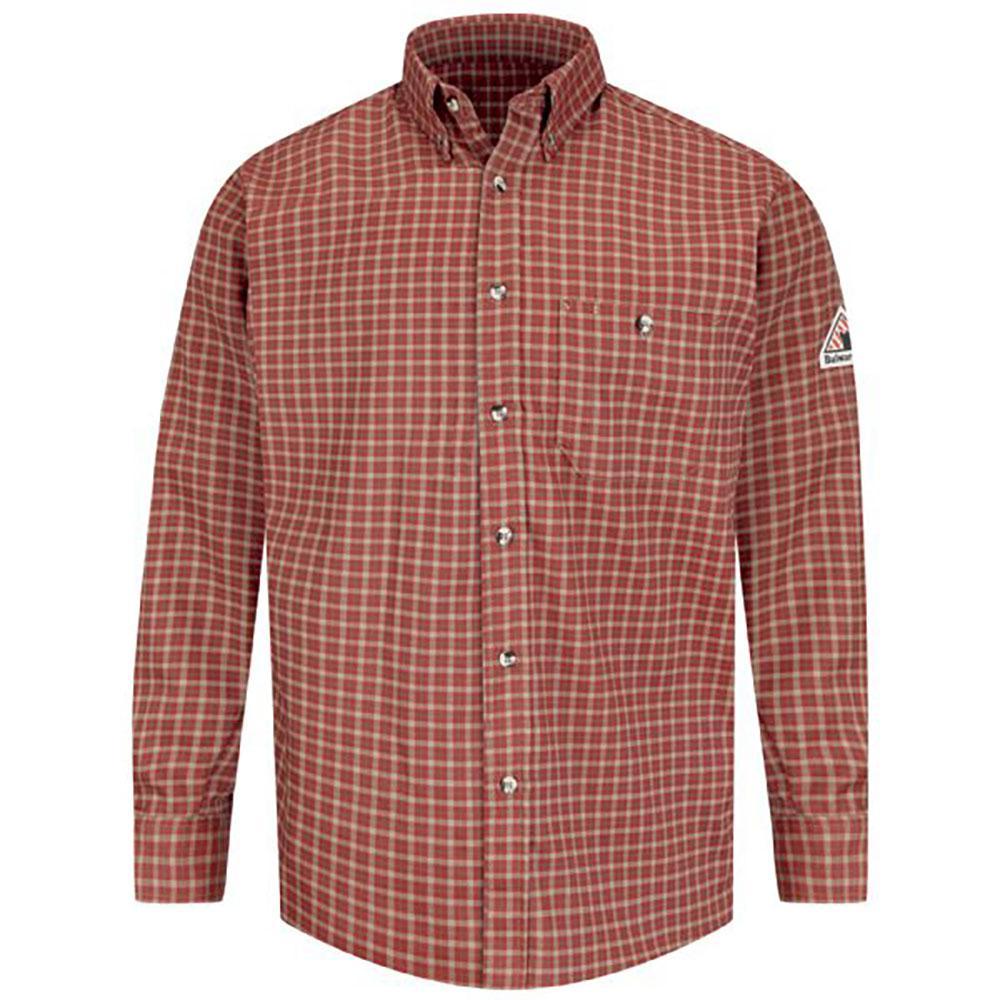 0dbfed8a45f EXCEL FR ComforTouch Men · Bulwark EXCEL FR ComforTouch Men s Large (Tall)  Red Khaki Plaid Plaid Dress Shirt