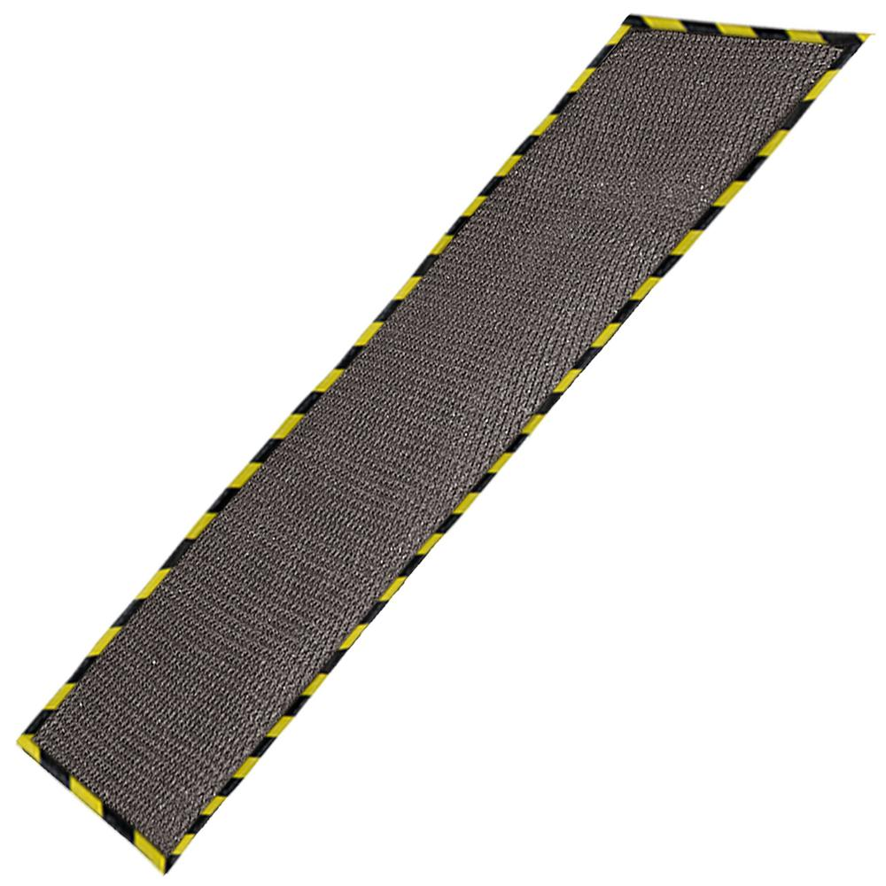 Gray 64 in. x 102 in. Garage Mat with Grid