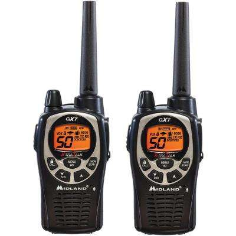 36-Mile 22-Channel 2-Way Radio Pair - Black