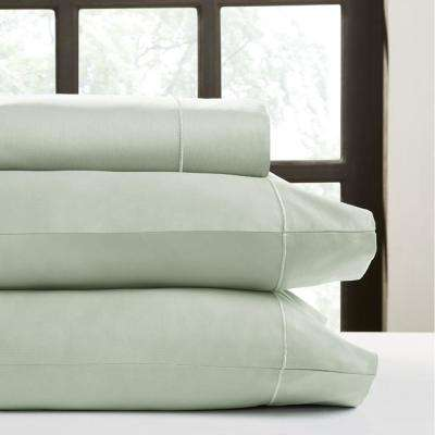 Celedon T520 Solid Combed Cotton Sateen Queen Sheet Set