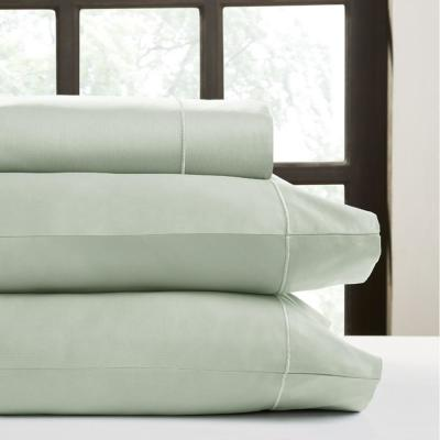 Hotel Concepts 4-Piece Celedon Solid 820 Thread Count Cotton California King Sheet Set