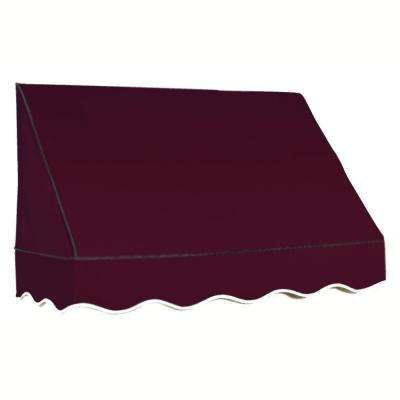8.38 ft. Wide San Francisco Window/Entry Awning (24 in. H x 42 in. D) Burgundy