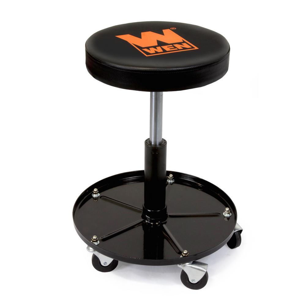 Fabulous Wen 300 Lb Capacity Pneumatic Rolling Mechanic Stool Inzonedesignstudio Interior Chair Design Inzonedesignstudiocom