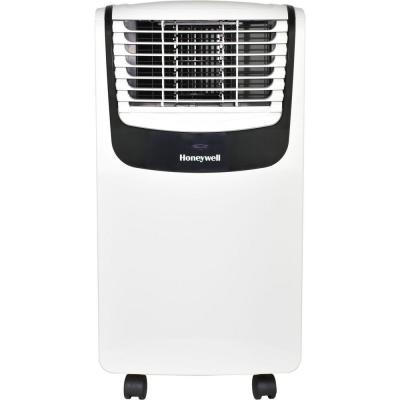 8,000 BTU (4,000 BTU, DOE) 115-Volt Portable Air Conditioner with Dehumidifier and Remote Control in White and Black
