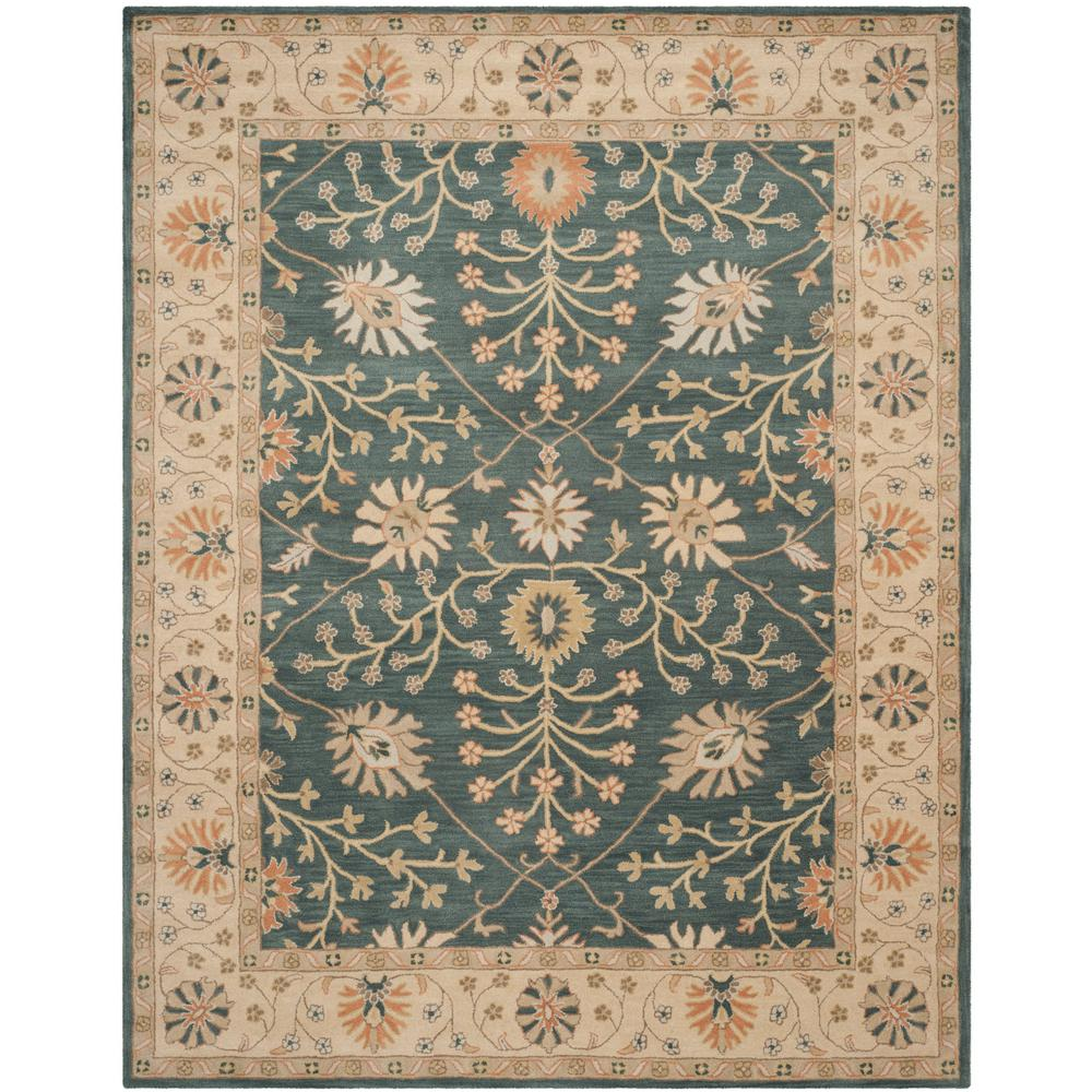 Classic Blue/Light Gold 5 ft. x 8 ft. Area Rug