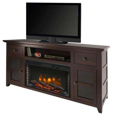 Winchester 56 in. Freestanding Electric Fireplace TV Stand in Dark Walnut