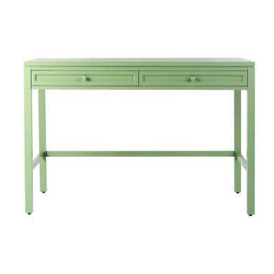 Craft Space 36 in. H 2-Drawer Wood Craft Table in Rhododendron Leaf