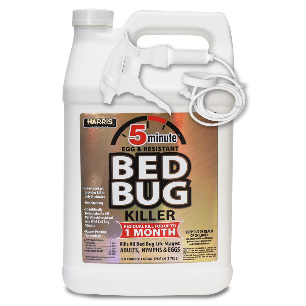 Harris Harris 1 Gal. 5-Minute Egg and Resistant Bed Bug Killer, Professional Exterminator Formula