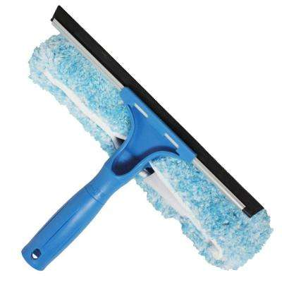 10 in. Microfiber Combi-Squeegee Scrubber Connect and Clean Locking System