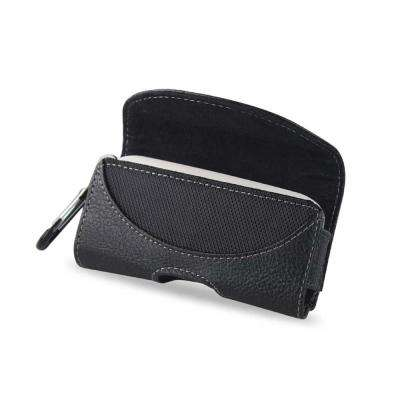 Small Horizontal Leather Holster in Black