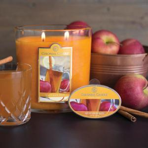 spiced apple toddy oval jar candle colonial