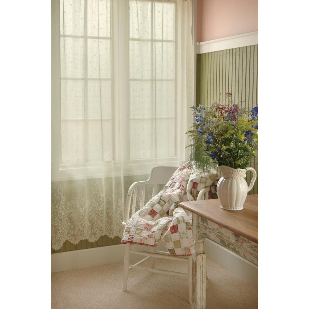 Heritage Lace Floret Ecru Curtain 60 In W 84 L