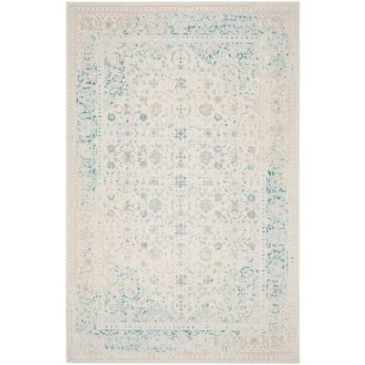 Passion Turquoise/Ivory 8 ft. x 11 ft. Area Rug