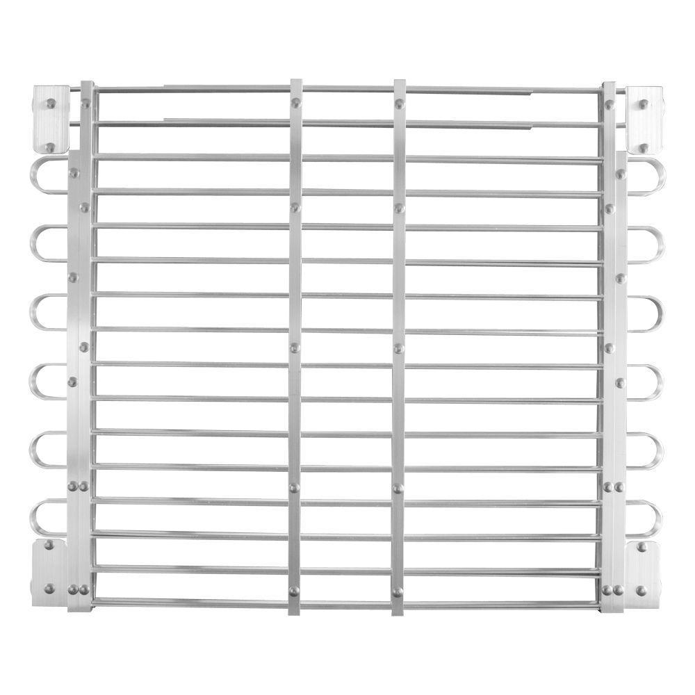 30 - 33 in. x 45 - 60 in. Adjustable Aluminum Window Well Grate