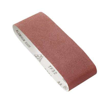 80 Grit 4 in. x 24 in. Belt Sandpaper