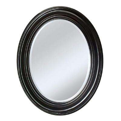 24 in. x 31 in. Sonoma Oval Mirror in Espresso