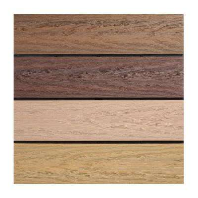 UltraShield Naturale 1 ft. x 1 ft. Quick Deck Outdoor Composite Deck Tile Sample in Multicolor