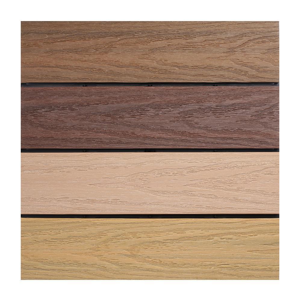 UltraShield Naturale 1 ft. x 1 ft. Quick Deck Outdoor Composite Deck Tile Sample in Multicolor