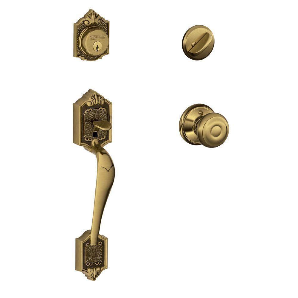 Schlage Parthenon Antique Brass Single Cylinder Deadbolt