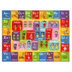 Multi-Color Kids Children Bedroom ABC Alphabet ASL Sign Language Educational Learning 5 ft. x 7 ft. Area Rug