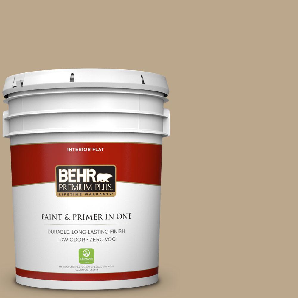 BEHR Premium Plus Home Decorators Collection 5-gal. #HDC-NT-16 Natural Chamois Zero VOC Flat Interior Paint