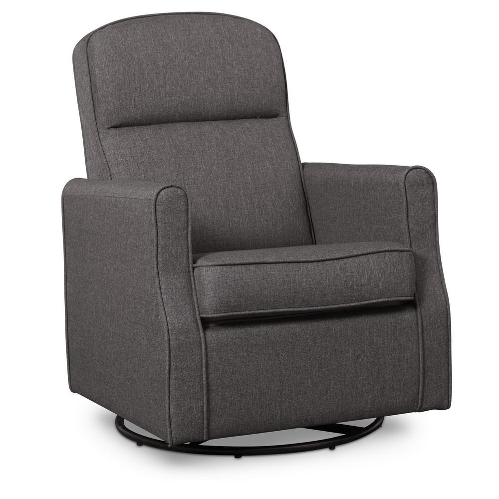 Charcoal Blair Glider Swivel Rocker Chair