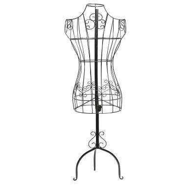 Adjustable Height Black Wire Frame Metal Mannequin Display Stand
