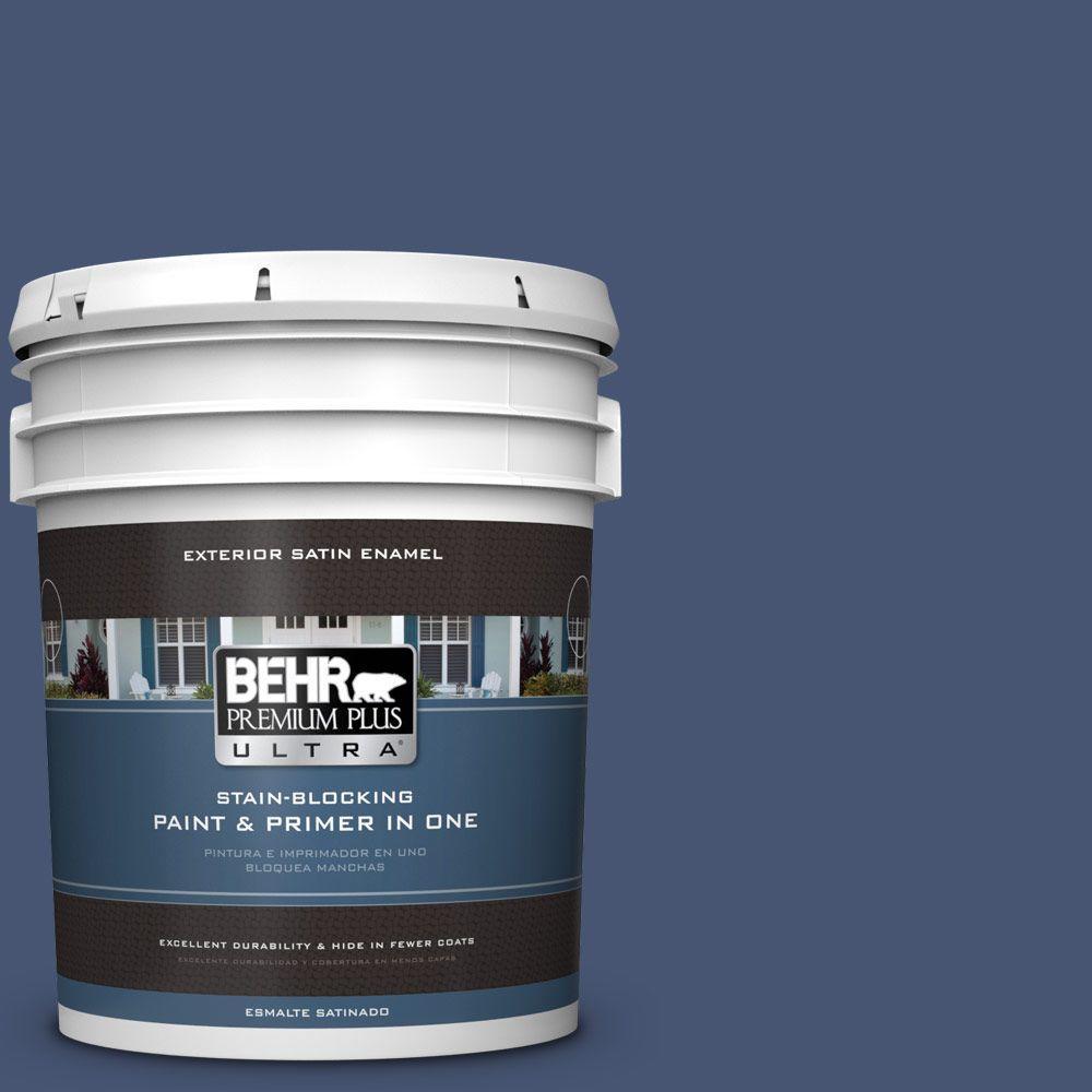 BEHR Premium Plus Ultra Home Decorators Collection 5-gal. #hdc-WR14-7 Hidden Sapphire Satin Enamel Exterior Paint