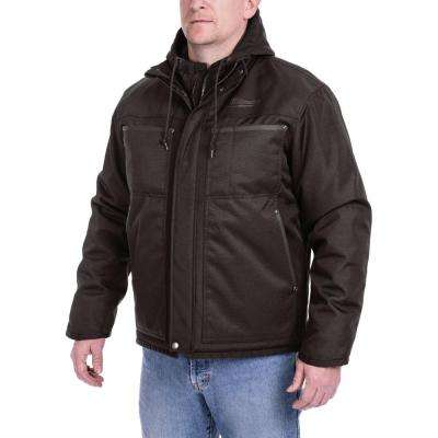 Men's Large M12 12-Volt Lithium-Ion Cordless Black 3-in-1 Heated Jacket (Jacket-Only)