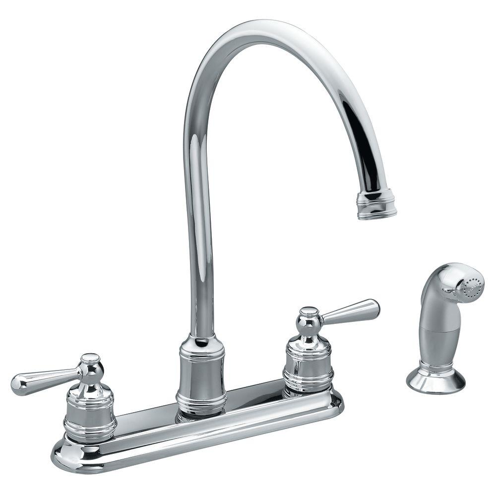 MOEN M-Bition 2-Handle Kitchen Faucet in Chrome-DISCONTINUED
