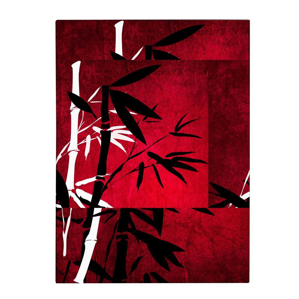null 47 in. x 30 in. Bamboo Style Canvas Art
