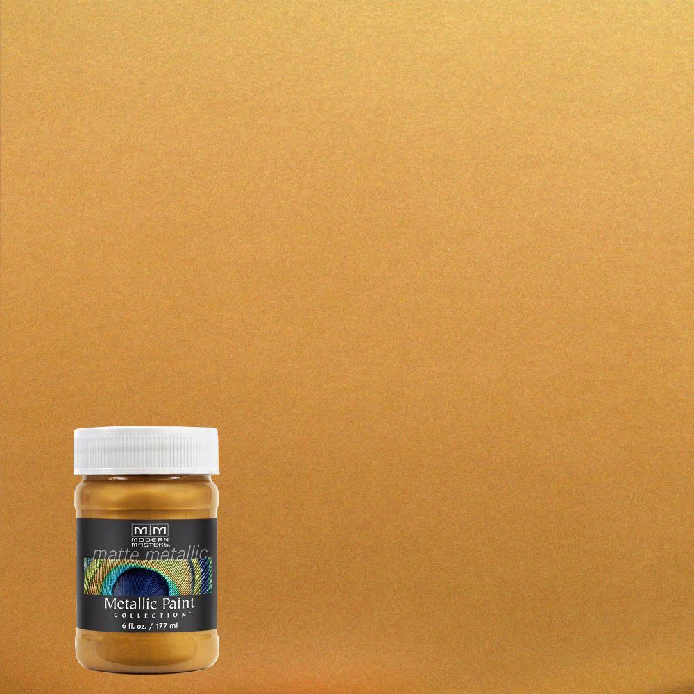 Modern Masters 6 Oz Rich Gold Metallic Interior Exterior Paint Me70106 The Home Depot