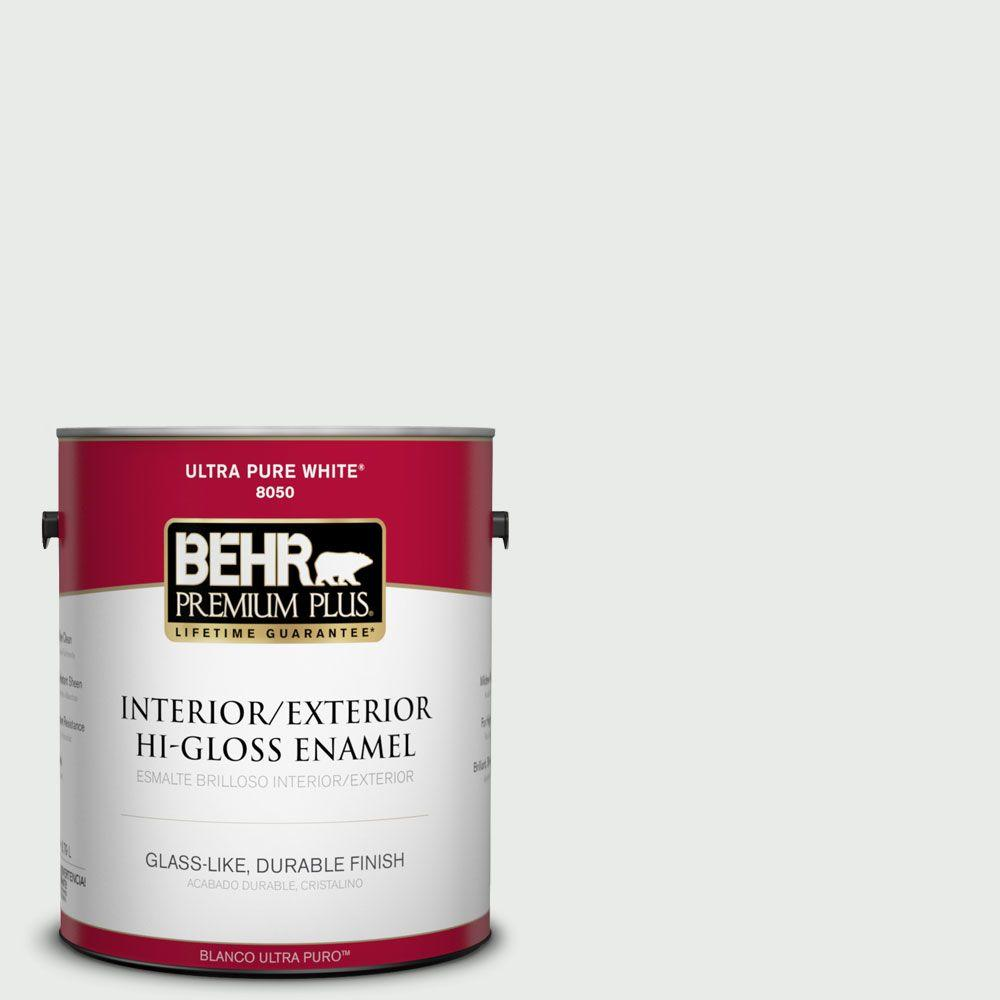 1 gal. #750E-1 Steam White Hi-Gloss Enamel Interior/Exterior Paint