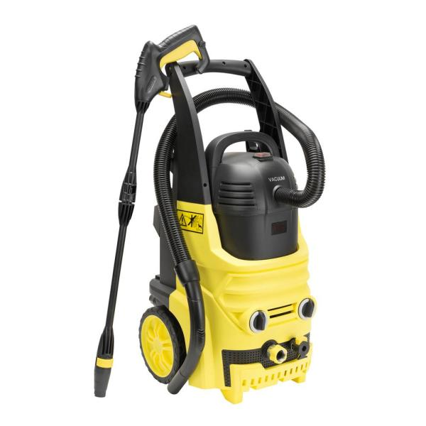 BY02-2 in 1 2000 PSI 1.6 GPM Electric Pressure Washer and Vacuum Cleaner