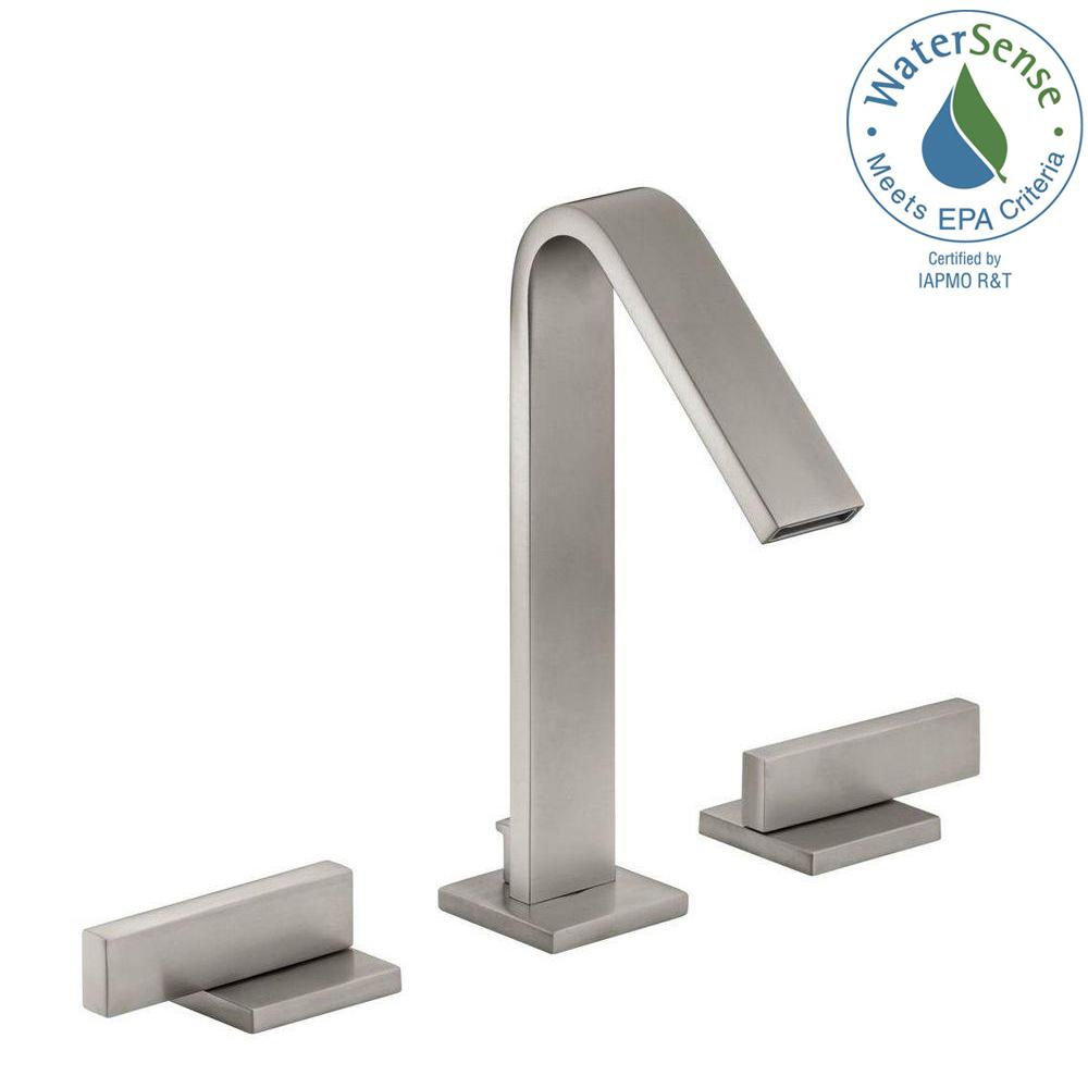KOHLER Loure 8 in. Widespread 2-Handle Water-Saving Bathroom Faucet ...