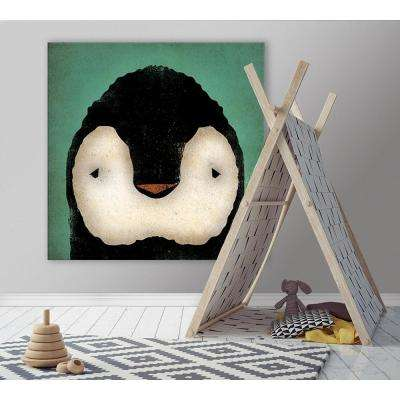 "54 in. x 54 in. ""Baby Penguin"" by Ryan Fowler Printed Framed Canvas Wall Art"