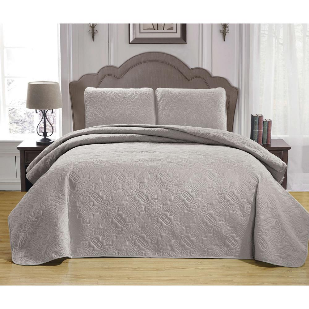 Leda Taupe King Bedspread Set