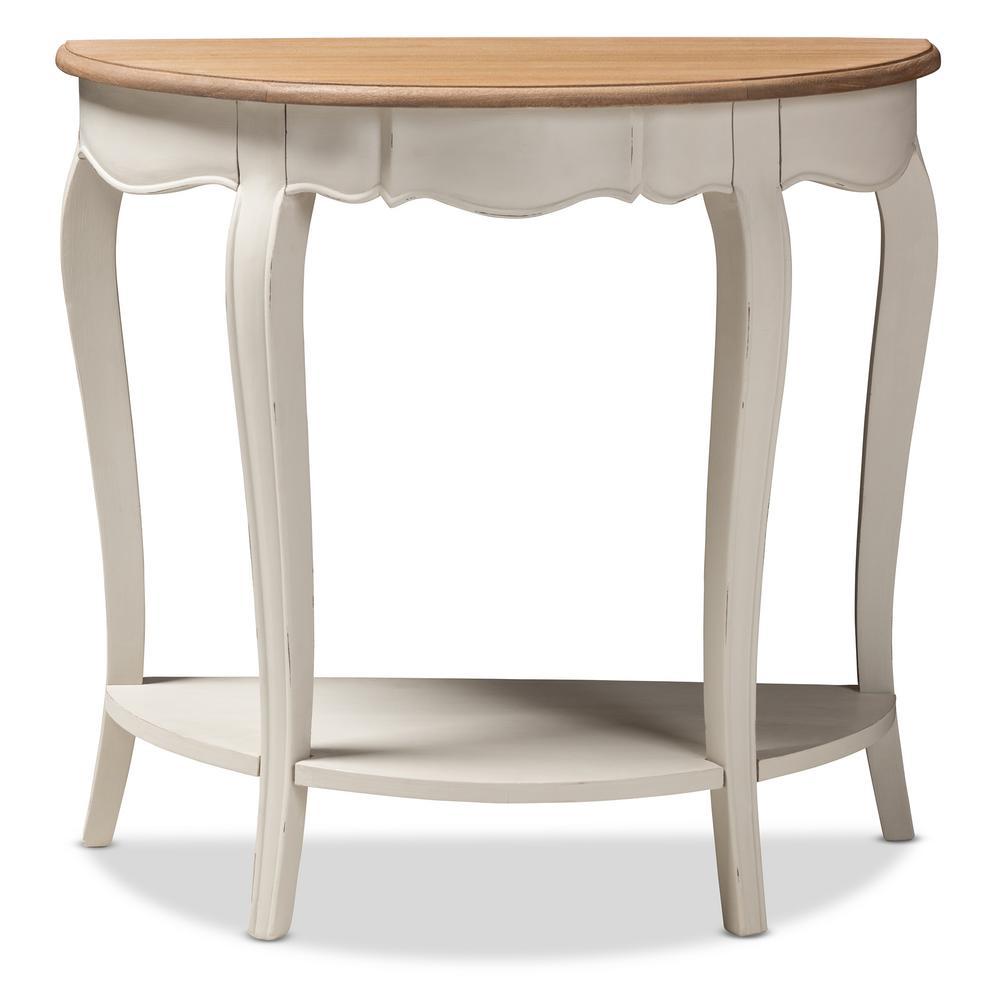 Cordelia White Console Table