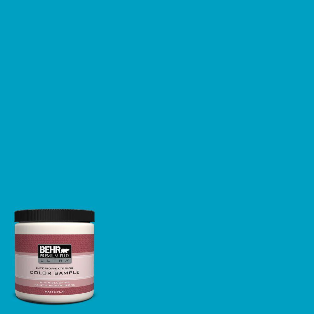 BEHR Premium Plus Ultra 8 oz. #530B-6 Tropical Holiday Interior/Exterior Paint Sample