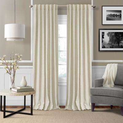 Elrene Colton 3 in 1 Single Blackout Window Panel 52 in. W x 84 in. L, Ivory