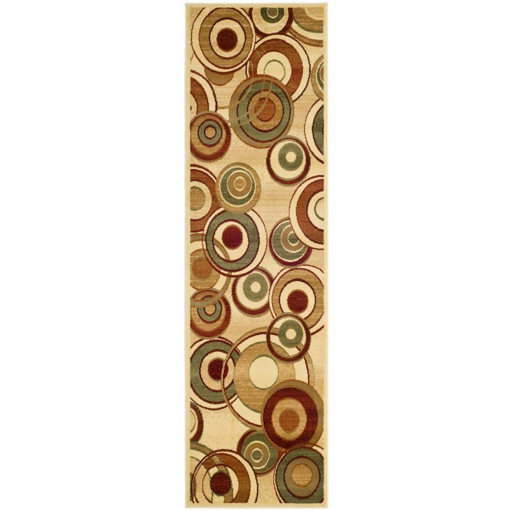 Lyndhurst Ivory/Multi 2 ft. x 18 ft. Runner Rug