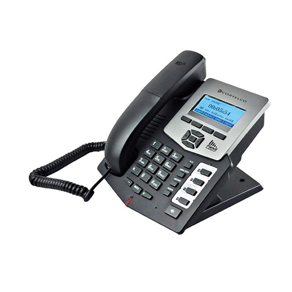 SIP 2.0 Corded Entry Level IP Phone with 4 DSS